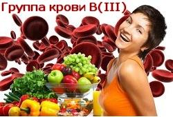 диета для третьей группы крови